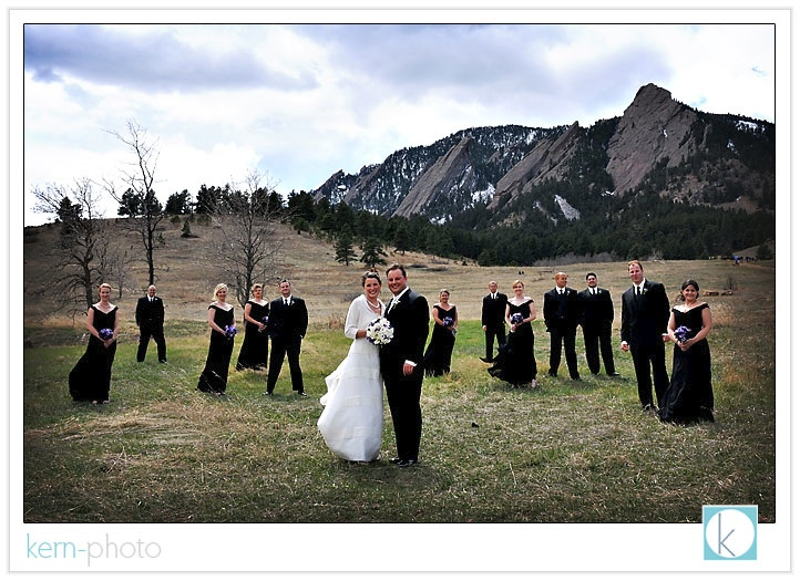 Wedding With Flatirons In Background At Chautauqua Park Boulder By Kern Photo