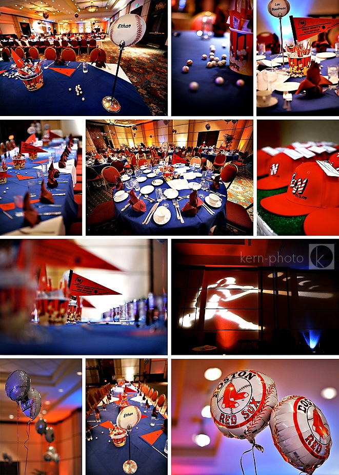 bar mitzvah photographer denver Ethan and his parents treated guests to a baseball-theme Bar Mitzvah reception held at the Marriott Denver South in Park Meadows, decked out in red, white, and blue.