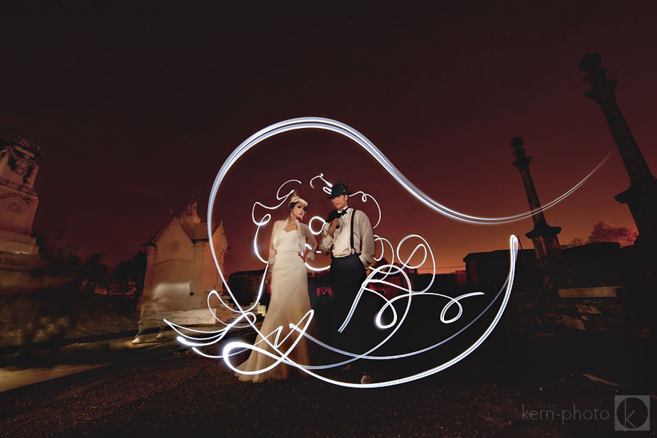 An amazing image of a bride and groom taken by RJ Kern.